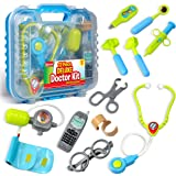 耐用儿童*套件,配有电子听诊器和 12 个*设备,包装在一个坚固的礼品盒中