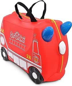 Trunki 儿童骑乘式旅行箱和手提行李箱:Frank消防车,消防车(Freddie) TR0254-GB01