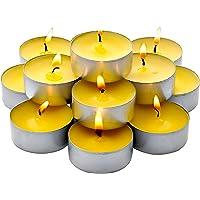 散装 - 60 支装香茅茶蜡烛 - 夏季黄色 - 室内/室外