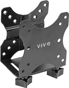VIVO 黑色可调节瘦客户机迷你电脑安装支架 | CPU VESA 桌面和显示器臂 电脑支架 (MOUNT-PC05C)