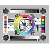 DGK 颜色工具 DGK-CSD 3 个高分辨率 20.32 厘米 X 27.94 厘米 铬 SD 专业镜头测试表 用于…