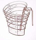 山崎実業/段々軽量カップ ハート 200ML/MEASURING CUP HEART 200ML 粉色 500ml