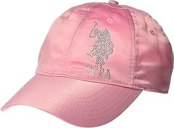 U.S. Polo Assn. 女式缎面水钻可调节棒球帽