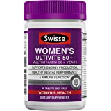Swisse Premium Ultivite 每日女性复合维生素,50+ | 能量和压力支持,富含抗氧化剂和矿物质…