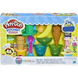 Hasbro 孩之宝 Play-Doh 培乐多 冰淇淋派对面团艺术(亚马逊发售) 3 岁以上儿童标准 气球模型131 棕…