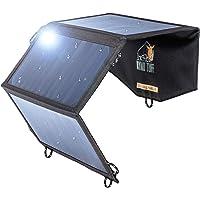 Ryno Tuff 太阳能充电器双 USB 太阳能电池板充电器,小巧耐用防水太阳能充电器,适用于手机、移动电源和电子设备…