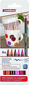 Edding 瓷器彩绘笔,多色组合 sortiertes Set warme Farbtöne
