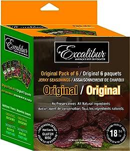 Excalibur JS6-O 原装 Jerky Mix Seasoning,6件装