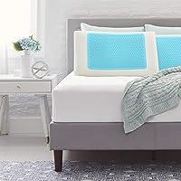 Comfort Revolution 蓝色泡沫凝胶 + *泡沫枕头,大号,白色