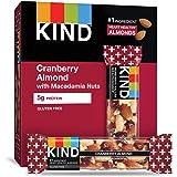 KIND 能量棒 蔓越莓杏仁+抗氧化剂配澳洲坚果,无麸质,低糖,1.4盎司/约40克,12支