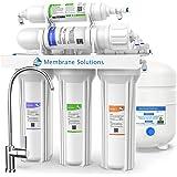 Under Sink 5 级滤水系统 - 膜溶液,*口味,反渗透系统净化器 - 大容量饮用水过滤套装,带水箱和水龙头-生命水过滤器系统 - 75GPD
