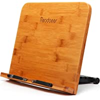 Readaeer Bamboo Reading Rest Cook Book Document Stand Holder…
