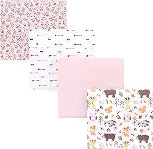 Hudson 婴儿中性款婴儿棉质法兰绒裹毯 Girl Pinecone 均码