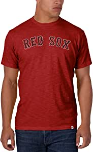 MLB Boston Red Sox Men's Scrum Basic Tee with Team Name, Rescue Red, Medium