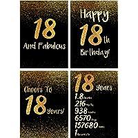 18 岁生日装饰 - 男孩和女孩的* 18 岁生日礼物 - 引人注目 18 岁生日聚会礼物 - 厚纸,哑光饰面和平邮海报…
