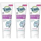 Tom's of Maine 儿童氟化物抗龋齿啫喱牙膏,天然牙膏,水果味,5.1盎司/144克(3件)
