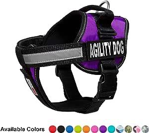 Dogline Unimax 狗狗多功能背心背带和 2 个可拆卸 AGILITY DOG 补丁 紫色 小号