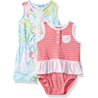 Carter's 女婴 连衣裤 2 件装  Floral/Pink 12 Months