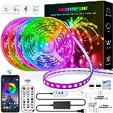 LED 条形灯,65.6 英尺/20 米 RGB LED 灯带,音乐同步 RGB LED 灯条 5050 SMD 变色…