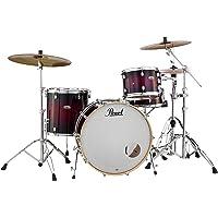PEARL decade dmp925sp / C2295件套鼓贝壳包,白色缎面珍珠 Gloss Deep Red Burst -inch