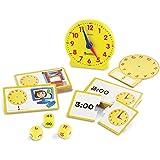 Learning Resources 时间游戏套装,模拟时钟,触觉学习,41件,5岁以上