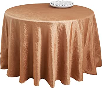SARO LIFESTYLE LN817 Especial Round Tablecloth Liners, 120-Inch, Copper