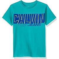 Calvin Klein 卡尔文·克莱恩 大男童 横条Logo圆领T恤