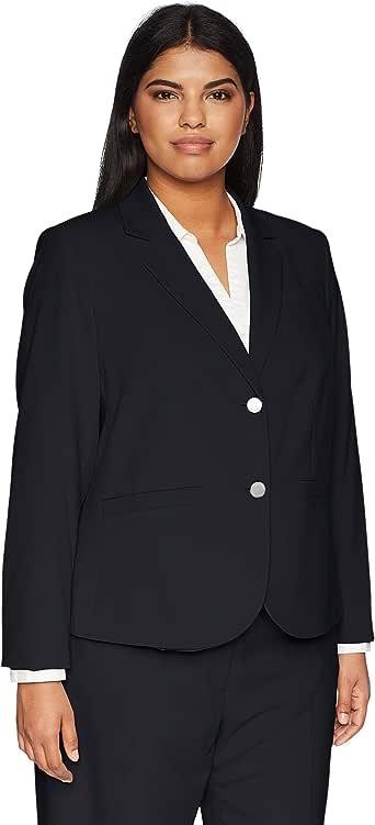 Calvin Klein 女士加大码双扣Lux 外套 *蓝 16W