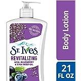 St. Ives 活力身体乳液,巴西莓奇亚籽油,20 盎司(约 595.3 克),4 件装