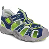 pediped Flex Canyon Water 凉鞋(幼儿/小童/大童) *蓝/绿黄色 27 EU (10-10.5…