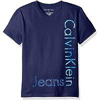 Calvin Klein 儿童新免熨V领T恤