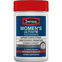 Swisse 优质Ultivite每日女士复合维生素,富含抗氧化剂和矿物质| 维生素A,维生素C,维生素D,生物素,钙,锌等| 50片