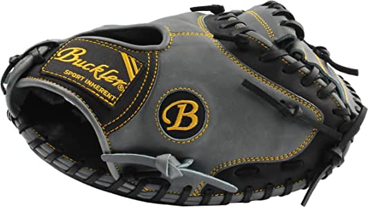 BUCKLER 'Phalanx' 系列 - 高级美国阉牛皮成人棒球手套 - 捕手手套 - 85.09 厘米 - RHT