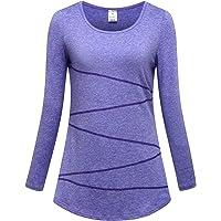 OThread & Co. 女式长袖瑜伽上衣高性能运动服跑步锻炼吸湿排汗时尚 T 恤