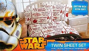 Disney Star Wars Falcon 3 件套双人床单套装 You Be the Character Sheet Set JF21071TCDY