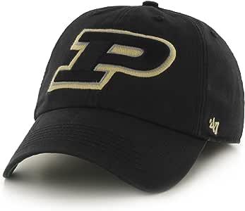 '47 NCAA 普渡大学锅炉制造工队品牌特许合身帽子,黑色 黑色 中