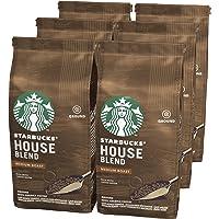 STARBUCKS 星巴克 House Blend 烘烤咖啡粉,中度烘焙, (6 x 200g)