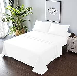Goza Bedding 4 件套超细纤维床单套装 白色 两个