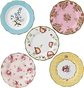 "Royal Albert 40017562 100 Years 1950-1990 Plate Set, 8"", Multicolor,5 Piece"