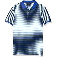 Nautica 诺帝卡男童短袖皮克条纹 Polo 衫