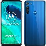 moto g8 Dual-SIM Smartphone (6,4-Zoll-Max Vision-HD+-Display, Dreifach-Kamerasystem, 64 GB/4 GB, Android 10), Blau [Exklusiv bei Amazon]