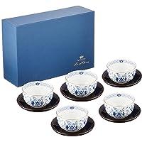 NARUMI 鸣海 Milano系列 茶杯套装 蓝色 茶具(带茶碗)5件套 180cc(约180ml) 日本制造 968…