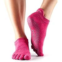 ToeSox Women's Low Rise Full Toe Grip Non-Slip for Ballet, Y…