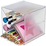 Deflecto stackable Cube 收纳桌面和工艺记事本