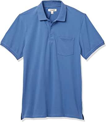 GoodThreads男士标准柔软棉质弹力珠地布 Polo 衫