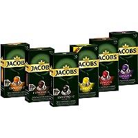 Jacobs 咖啡胶囊 Nespresso 咖啡胶囊,6 x 10杯,6种口味试用装
