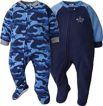 GERBER 婴儿和小男孩2件装毛毯睡衣