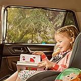 Munchkin Brica 可拉伸拉伸遮阳帘,5 个磁铁贴附在金属车窗框架上,*大 UVA/UVB 防护