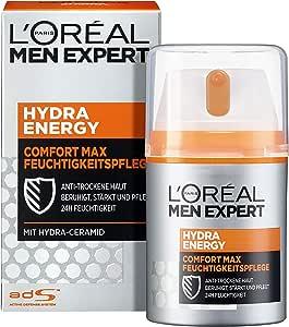 L'Oreal Paris 巴黎欧莱雅 男士专家 劲能极润保湿霜,适用于敏感干燥男性皮肤,不油腻,理想的日霜和晚霜