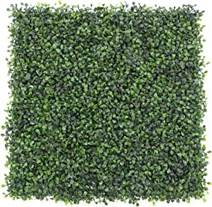 e-joy 24 Piece Artificial Topiary Hedge Plant Privacy Fence Screen Greenery Panels Suitable for Both Outdoor or Indoor, Garden or Backyard and Home Decorations, Boxwood 20'' L x 20'' H